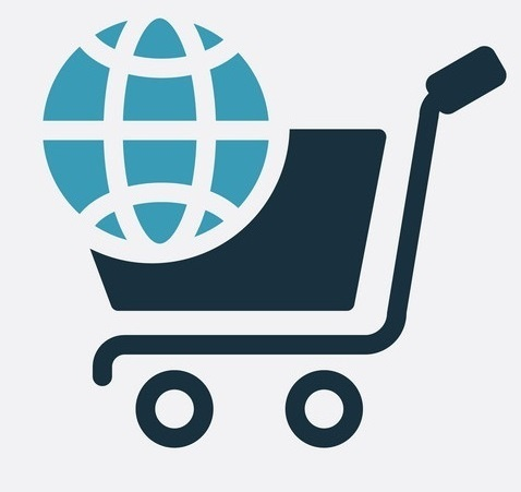 two color ecommerce vector icon from social media marketing concept. isolated blue ecommerce vector sign symbol can be use for web, mobile and logo. eps 10